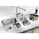 Кухненска мивка BLANCO SUPRA 180 U от неръждаема стомана, за монтаж под плот, с гевгир