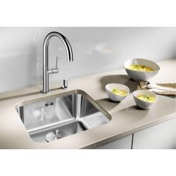 Кухненска мивка BLANCO SUPRA 340 U от неръждаема стомана, за монтаж под плот, с автоматичен сифон