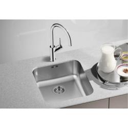 Кухненска мивка BLANCO SUPRA 450 U от неръждаема стомана, за монтаж под плот, с автоматичен сифон