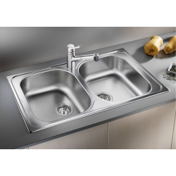 Кухненска мивка BLANCO TIPO 8 от неръждаема стомана, с автоматичен сифон