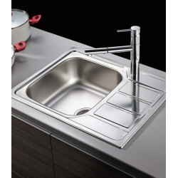 Кухненска мивка PYRAMIS ATHENA (62X50) 1B 1D от неръждаема стомана