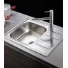 Кухненска мивка PIRAMYS ATHENA (62X50) 1B 1D от неръждаема стомана