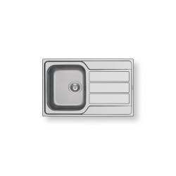 Кухненска мивка PYRAMIS ATHENA (79X50) 1B 1D от неръждаема стомана