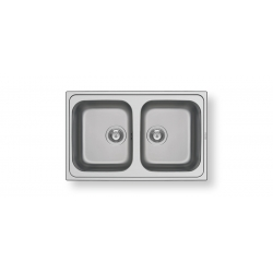 Кухненска мивка PYRAMIS ATHENA (79X50) 2B от неръждаема стомана