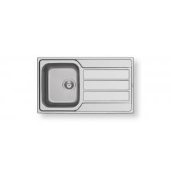 Кухненска мивка PYRAMIS ATHENA (86X50) 1B 1D от неръждаема стомана
