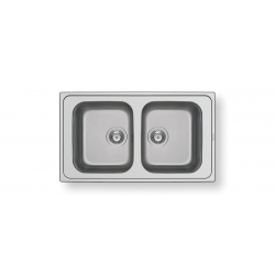 Кухненска мивка PYRAMIS ATHENA (86X50) 2B от неръждаема стомана