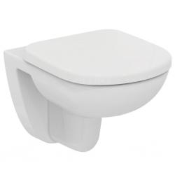 Стенна тоалетна чиния IDEAL STANDARD TEMPO- къса проекция 48 см., със седалка по избор