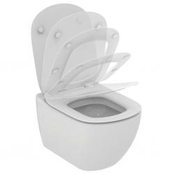 Стенна тоалетна чиния IDEAL STANDARD TESI, с напълно скрито присъединяване, със седалка по избор