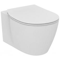 Стенна тоалетна чиния IDEAL STANDARD CONNECT,технология Rimless и скито присъединяване, със седалка по избор