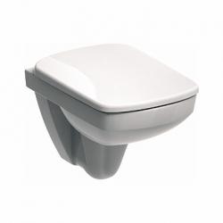 Стенна тоалетна чиния KOLO NOVA PRO квадратна,компактна 48 см., със седалка по избор
