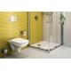 Стенна тоалетна чиния NOVA PRO Rimfree квадратна