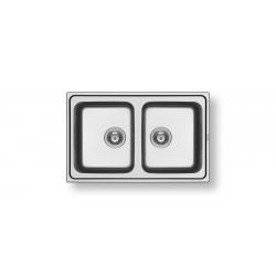 Кухненска мивка PYRAMIS ALEA (79X50) 2B от неръждаема стомана