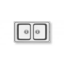 Кухненска мивка PYRAMIS ALEA (86X50) 2B от неръждаема стомана