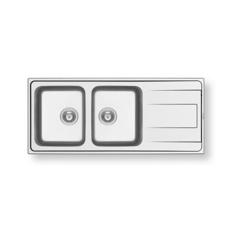 Кухненска мивка PYRAMIS ALEA (116X50) 2B 1D от неръждаема стомана