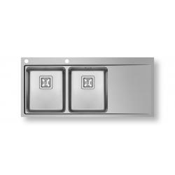 Кухненска мивка PYRAMIS OLYNTHOS (116X52) 2B 1D от неръждаема стомана
