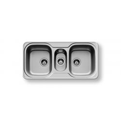 Кухненска мивка PYRAMIS SPACE MINI (96x48) 2 1/2B от неръждаема стомана