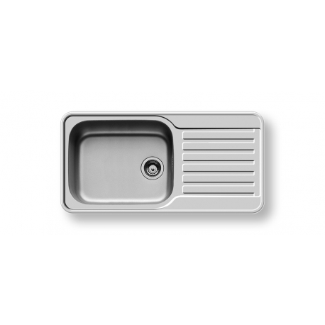 Кухненска мивка PYRAMIS SPACE PLUS (96X48) 1B 1D от неръждаема стомана