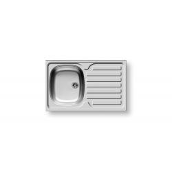 Кухненска мивка PYRAMIS INTERNATIONAL (80X50) 1B 1D от неръждаема стомана, за вграждане над шкаф