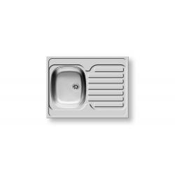 Кухненска мивка PYRAMIS INTERNATIONAL (80X60) 1B 1D от неръждаема стомана, за вграждане над шкаф