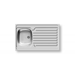 Кухненска мивка PYRAMIS INTERNATIONAL (100X60) 1B 1D от неръждаема стомана, за вграждане над шкаф