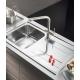 Кухненска мивка PYRAMIS ALEA (79X50) 1B 1D от неръждаема стомана
