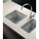 Кухненска мивка PYRAMIS LUME (34X40) 1B от неръждаема стомана, за монтаж на равно с плота