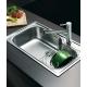 Кухненска мивка PYRAMIS TITAN (86X50) 1B от неръждаема стомана