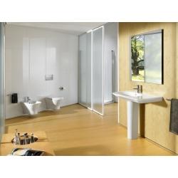Комплект ROCA NEXO Rimless тоалетна чиния и капак със забавено падане, структура и бутон ACTIVE