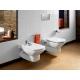 Комплект ROCA DAMA SENSO тоалетна чиния и капак с метални планки, структура ROCA