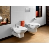 Комплект ROCA DAMA SENSO тоалетна чиния и капак с метални планки, структура и бутон ROCA