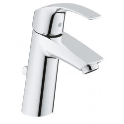 Смесител за мивка GROHE Eurosmart, M size, с изпразнител