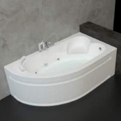 Хидромасажна вана ОНИКС 160х90 см. ПРЕМИУМ ФЛАТ, ъглова, с нагревател
