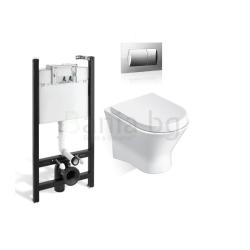 Комплект ROCA NEXO тоалетна чиния и капак, структура и бутон ACTIVE