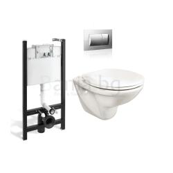 Комплект ROCA FAYANS NEO SANIBEL тоалетна чиния и капак, структура и бутон Eco Solution