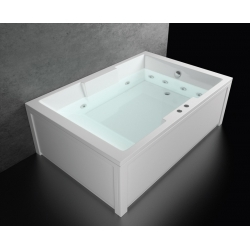 Хидромасажна вана АТИНА СТАНДАРТ 180х120 см. ФЛАТ, правоъгълна, за двама