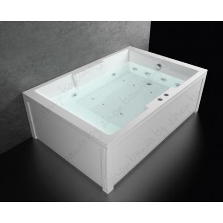 Хидромасажна вана АТИНА 180х120 см. КОМБО ФЛАТ, правоъгълна, за двама