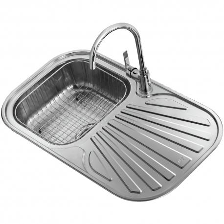 Комплект за кухня TEKA Tekaway Stylo 1C, мивка от неръждаема стомана s ko[nica, смесител Inca, висок, хром