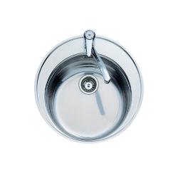 Кухненска мивка TEKA Centroval от неръждаема стомана, кръгла, различен финиш