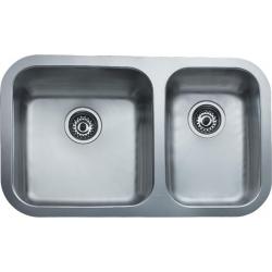 Кухненска мивка TEKA BE-785 2C от неръждаема стомана, монтаж под плот