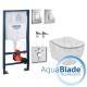Комплект GROHE 4v1/IDEAL STANDARD Tesi AquaBlade, тоалетна чиния, капак, структура за вграждане GROHE с бутон по избор