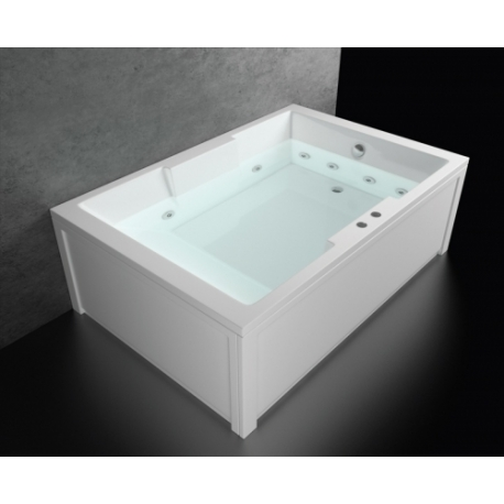 Хидромасажна вана АТИНА ЕКСКЛУЗИВ ФЛАТ, 180х120 см., правоъгълна, за двама, с нагревател
