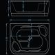 Хидромасажна вана ХАВАНА ЕКСКЛУЗИВ ФЛАТ, 190х120 см., правоъгълна, за двама, с нагревател