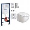 Комплект GROHE 4v1/KOLO EGO, тоалетна чиния, капак, структура за вграждане GROHE с бутон по избор