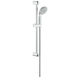 Комплект GROHE New Tempesta 100, ръчен душ с 3 струи и тръбно окачване
