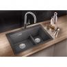 Мивка за кухня BLANCO  PLEON 6 Split SILGRANIT ™- цвят Скалисто сив, от синтетичен гранит