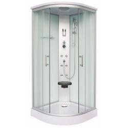 Хидромасажна душ кабина SCALA CL106, 90х90, ъглова, затворена, два цвята