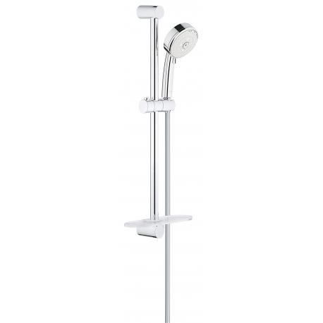 Комплект тръбно окачване с ръчен душ GROHE Tempesta Cosmopolitan 100, 3 струи