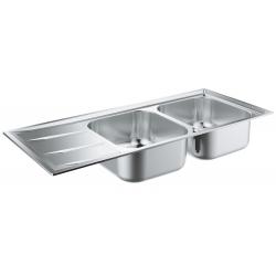 Кухненска мивка GROHE K400 от неръждаема стомана с автоматичен сифон, 31587SD0
