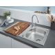 Кухненска мивка GROHE K200 от неръждаема стомана с автоматичен сифон