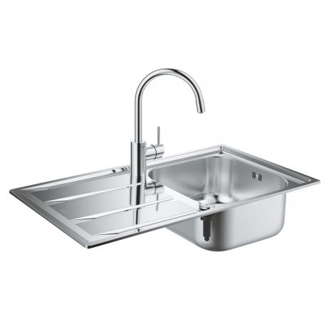 Кухненска мивка GROHE K400 от неръждаема стомана с автоматичен сифон, 31566SD0